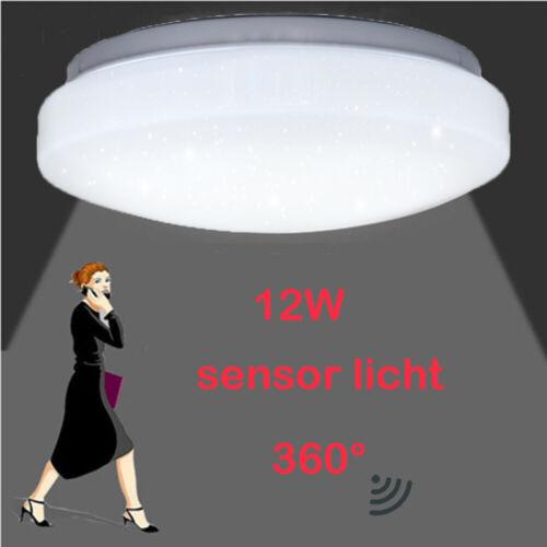 12W Sensor LED Deckenlampe Deckenleuchte Wandlampe mit Bewegungsmelder Radar NEU