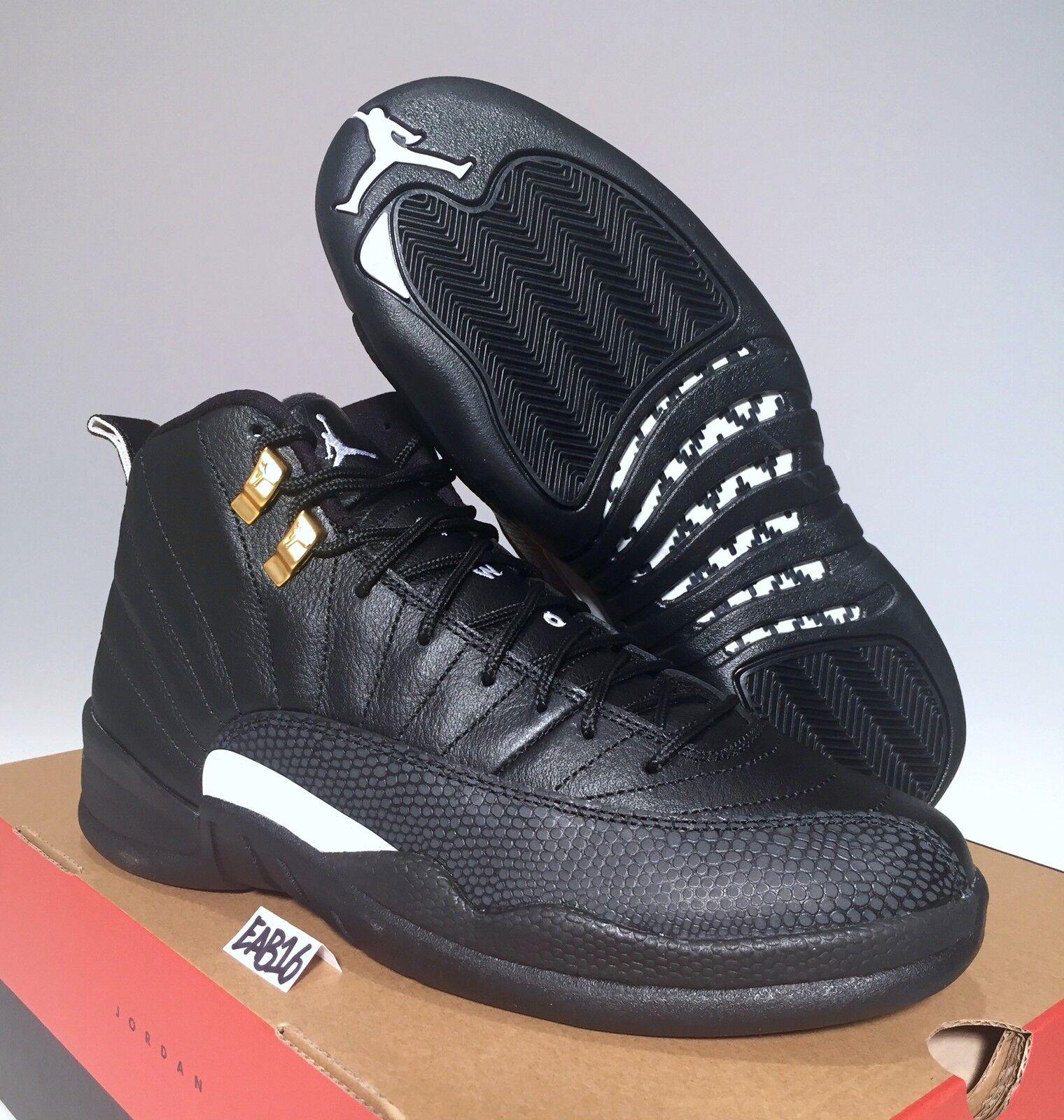 Nike Air Jordan Retro XII 12 The Master Black and White Masters Size 4-16
