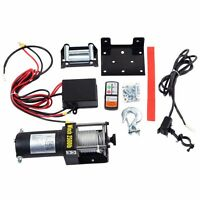 Classic 2500lbs 12v Electric Recovery Winch Truck Suv Wireless Remote Control on sale