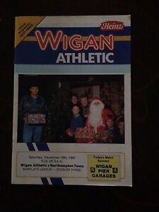 Wigan-Athletic-v-Northampton-Town-programme-1987-88