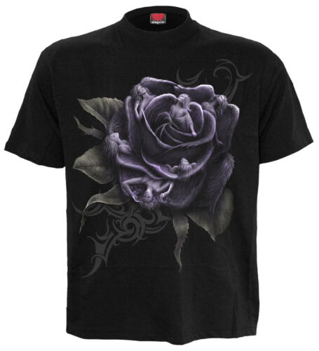 SPIRAL DIRECT ROSE ANGEL Front Print T-Shirt//Biker//Angel//Wings//Gift//Tattoo//Top