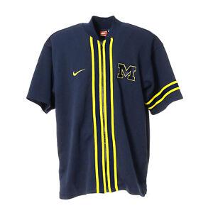 outlet store 6109c 2950a Details zu Nike Michigan NCAA Football Basketball Shirt Zip Sport College  Jersey Trikot-M
