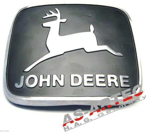 023 John Deere Motorhauben Emblem Aluminium JD