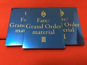 NEW-Fate-Grand-Order-FGO-Material-1-2-3-Complete-Set-Art-Book-EMS-F-S-Japan
