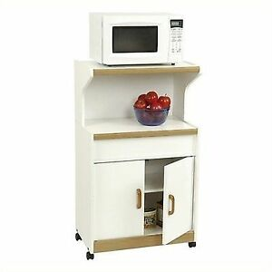 Ameriwood 4574GM Microwave Cart W Storage Cabinet Space in White | on bookcases with storage, bedroom sets with storage, bars with storage, vanities with storage, hutches with storage, wine racks with storage, butcher block with storage, bakers racks with storage, furniture with storage, stands with storage, desks with storage, dining sets with storage, cutting boards with storage, chairs with storage, filing cabinets with storage, dinette sets with storage, storage benches with storage, medicine cabinets with storage, shelves with storage, coolers with storage,