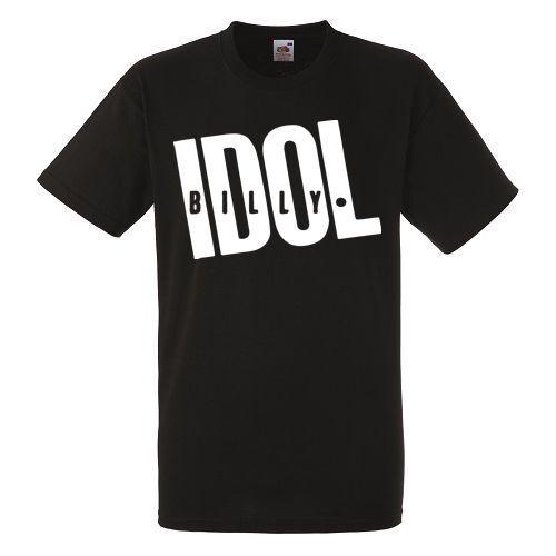 Billy Idol Logo Black New T-shirt Rock Band Shirt Heavy Metal Tee