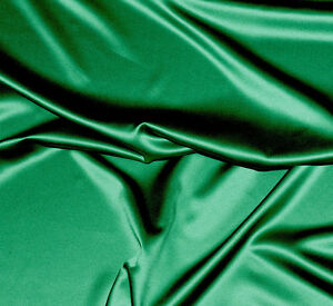 Image Is Loading DUCHESS SATIN FABRIC TROPIC JADE GREEN 58 034