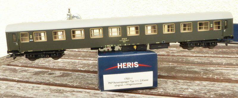 HERIS 170311 h0 treno rapido autoro bwxz della PKPe epoca 45 molto ben conservato, RAR
