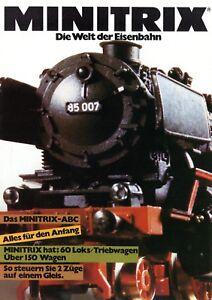 Minitrix-Welt-der-Eisenbahn-Prospekt-1980-Modelleisenbahn-brochure-model-railway