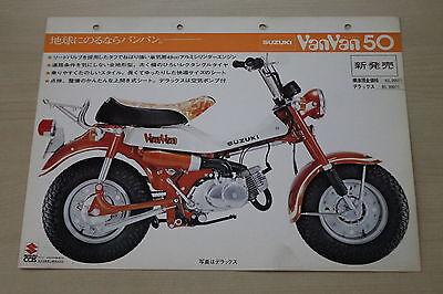 170038) Suzuki Vanvan 50 - Japan - Prospekt 197? Eine GroßE Auswahl An Modellen