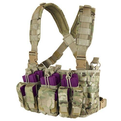 Condor MCR5 Multicam Tactical MOLLE PALS Kangaroo Magazine Pouch Recon Chest Rig
