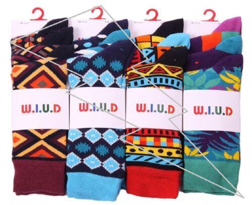 I MEN/'S  Retro Pattern Design Socks Funky Multi Colour W U-D Bright Vibra Lot