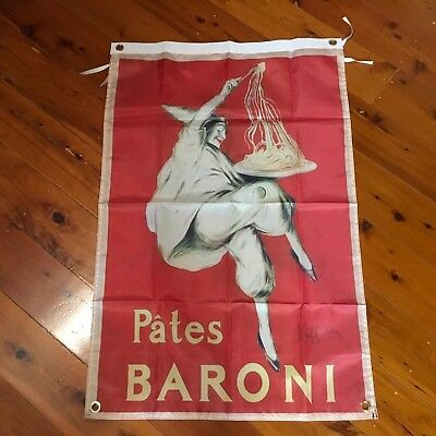 Signs Pates Baroni Leonetta Cappiello Art Advertising Print Man Cave Flag Wall Hanging Neither Too Hard Nor Too Soft