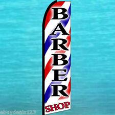 Barber Shop Swooper Flag Tall Advertising Sign Flutter Feather Swooper Banner