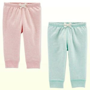 Baby-Girl-Carter-039-s-French-Terry-Knit-Jogger-Pants-Pink-or-Mint-Separates-3-24M