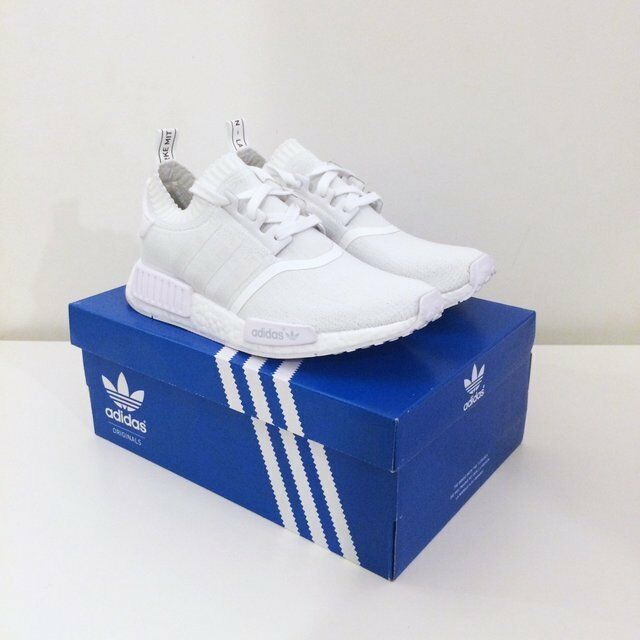 the latest a70d0 1373e Adidas NMD R1 courirner Primeknit PK Boost Triple Triple Boost blanc  Monochrome UK 60f0ad