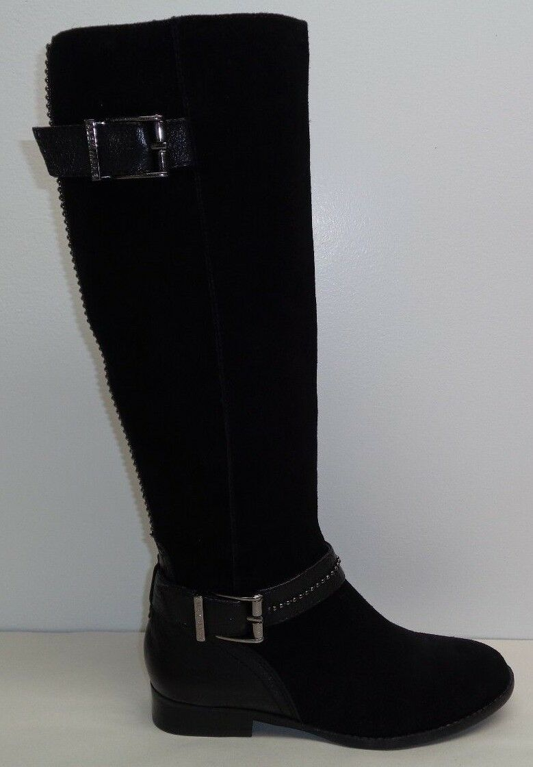 Alex Marie Size 6 M DAVIAN Black Suede Leather Knee High Boots New Womens shoes