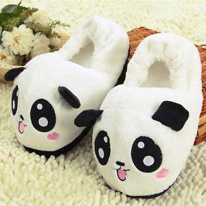 9e0bf7e27 Cute Panda Eyes Women Cute Slippers Lovely Cartoon Indoor Home Soft ...