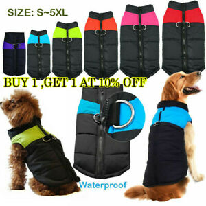 Waterproof-Pet-Dog-Warm-Padded-Vest-Coat-Clothes-Soft-Winter-Jacket-Apparel-USA