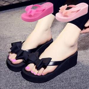 a1d417e9b5e127 Women s Beauty Flip Flops High Heel Slippers Platform Summer Wedge ...