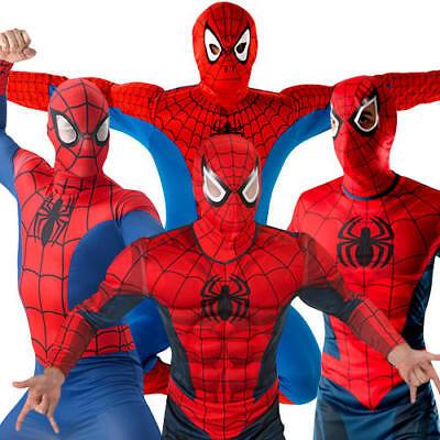 SPIDERMAN FANCY DRESS ADULT MARVEL COSTUME SUPERHERO LICENSED THE AVENGERS