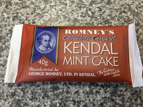 Romneys Chocolate Kendal Mint Cake 40g High Energy Food Bushcraft Expeditions