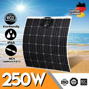 12V-250W-Flexible-Solar-Panel-250-Watt-Mono-Caravan-Camping-Home-Battery-Charge