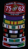 VIETNAM WAR RIBBON VETERAN TAB HAT PATCH US ARMY MARINES NAVY USCG AIR FORCE
