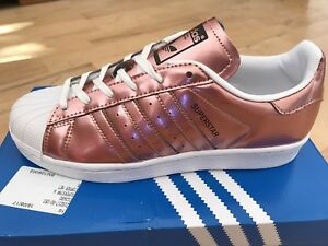 7760a6affee4 Image is loading ADIDAS-Superstar-Copper-Metallic-Women-039-s-Trainers-