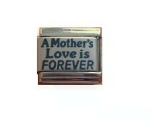9mm-Italian-Charm-L106-Mum-A-Mother-039-s-Love-is-forever-Fits-Classic-Size-Bracelet