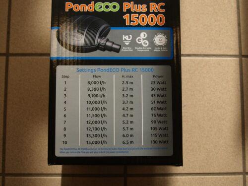 SF POMPA PER LAGHETTO POND ECO Plus 15000 telecomando 23-130 WATT POMPA FILTRO unità Bach