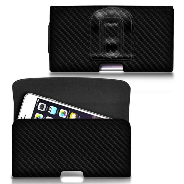 For OnePlus 3t - Horizontal Carbon Fibre Belt Pouch Holster Case