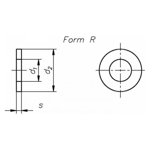 Stahl f DIN 440 Scheibe 22 x 72 x 6 Rundloch für Holzkonstruktionen Form R