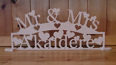 PERSONALISED MR & MRS LETTERS MR & MRS SIGN MR AND MRS LETTERS WEDDING ACCESSORY