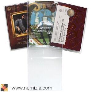 Paquete-de-25-Fundas-de-plastico-para-Carteritas-de-2-Euro-conmemo-de-San-Marino