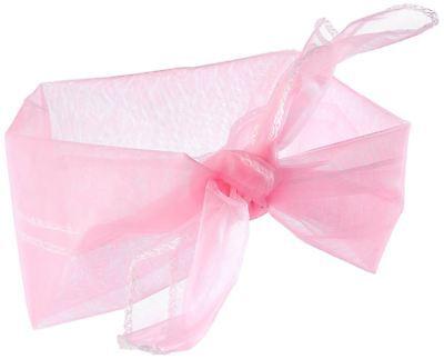 Fornitura Sciarpa Collo Anni 1950 50s Stile Chiffon-rosa-