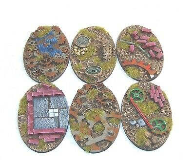 Qty 1-5 unpainted Paved resin scenic oval bases 90X52mm by Daemonscape