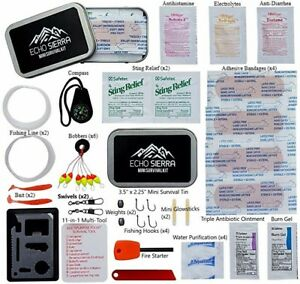 Echo Sierra Mini Emergency Hiking Camping Survival Kit & First Aid Kit