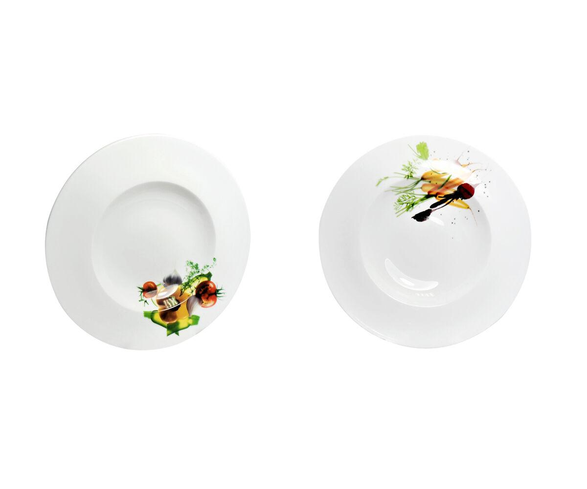 Plato para Pasta Set Nudelteller Sopero Hondo whiteo 30cm 2 4 6 Motivo