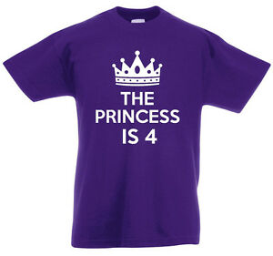 Image Is Loading The Princess 4 4th Birthday Gift T
