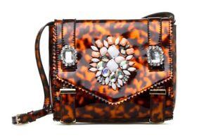 Crossbody Purse Patent Printamp; Accent Jewel Leather New WTortoiseshell Handbag 34jRqA5L