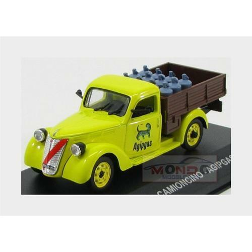 Fiat 1100 Elr Camioncino Pick-Up Agipgas 1954 Yellow Brown Edicola 1:43 VPDC065