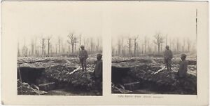 Grande Guerre Entrée Un Ape WW1 Foto Stereo Vintage Analogica