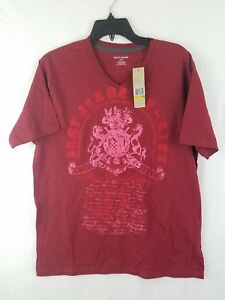 Dkny T Shirt Burgundy Mens Short Sleeve Size M 100 Cotton Nwt Ebay