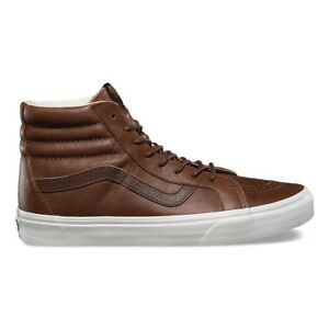 e6371c5b3542ea VANS SK8 Hi Reissue (Leather) Dachshund Potting Soil Brown WOMEN S ...