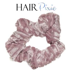 HAIRpixie-CHAMPAGNE-Hair-Scrunchie-Hair-Tie-MERMAID-Velvet-Accessory-Elastic