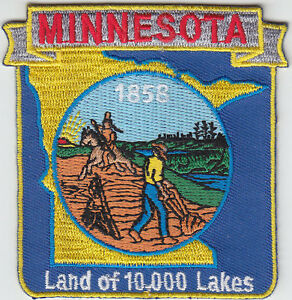 image is loading minnesota mn map patch 1858 land of 10