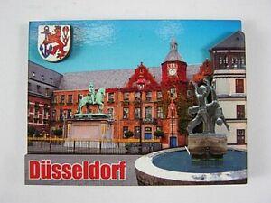 Duesseldorf-Rathaus-3D-grosser-Holz-Magnet-Souvenir-Germany-Deutschland