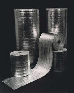 "5.5/"" x 250/' Reflective Foam Insulation Aluminum Foil Spiral Pipe Wrap Roll R-8.0"