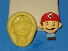 Super Mario Silicone 2D Push Mold Polymer Clay A169 Resin Miniature Cake Mould